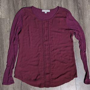 Loft Maroon blouse